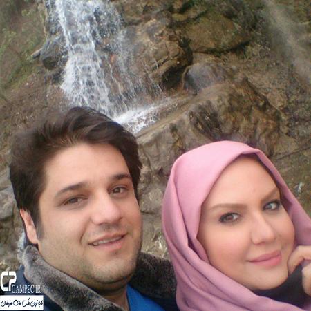 نیلوفر امینی فر مجری تلویزیون و همسرش عکس