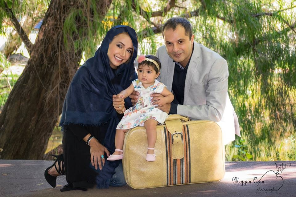 آغاز سفر نوروزی شبنم قلی خانی و همسر و دخترش شانا