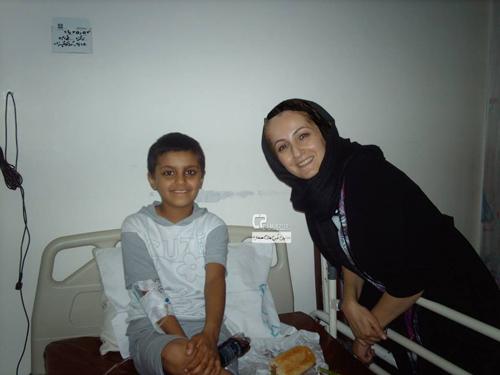 شقایق دهقان در بیمارستان طبی کودکان
