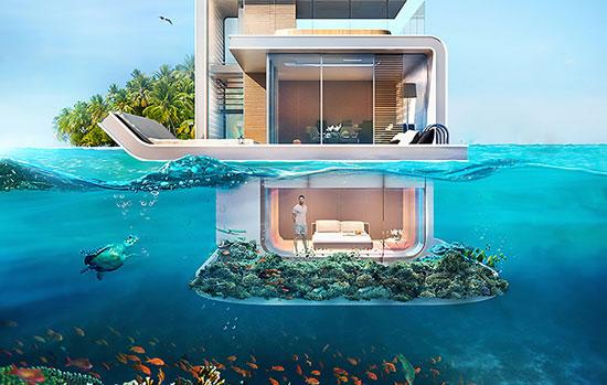 ساختمانهای شگفتانگیز زیر آب