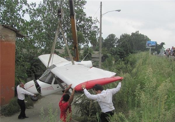 سقوط هواپیما در فرودگاه رامسر