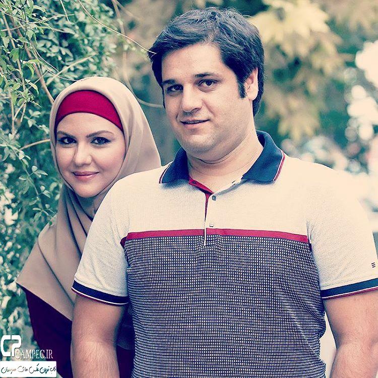 عکس های جدید نیلوفر امینی فر و همسرش