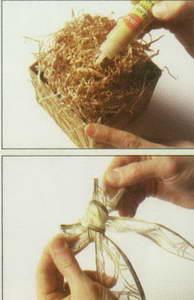 آموزش ساخت سفره هفت سین بسیار زیبا با جعبه های ارگانزا تصاویر