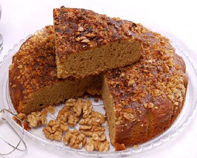 یک دستور آسان برای کیک گردویی مقوی و مخصوص!