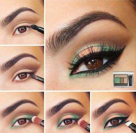 4 مدل آرایش فوق العاده جذاب برای چشم قهوه ای/آموزش گام به گام تصویری