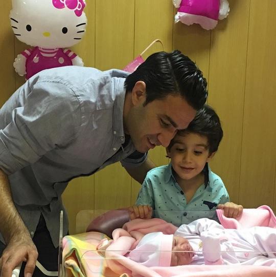 نکونام تولد دومین فرزندش را جشن گرفت