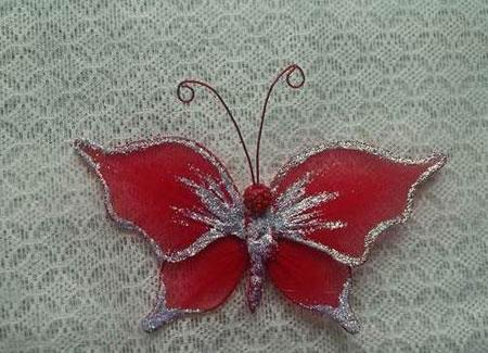 ساخت کاردستی پروانه تزیینی تصاویر