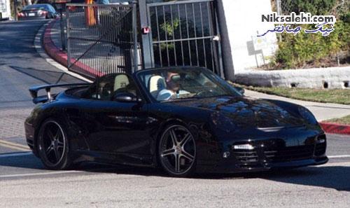 دیوید بکهام سوار بر اتومبیل های گرانقیمتش