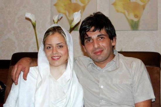 حمید گودرزی در کنار همسرش  عکس