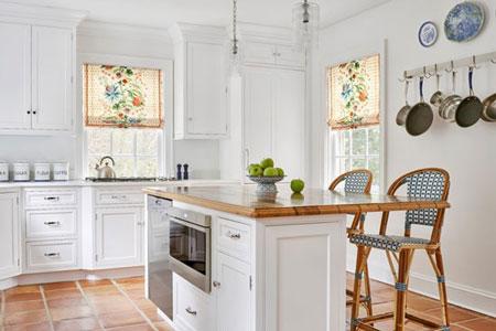چیدمان و دکوراسیون آشپزخانه های سفید  تصاویر