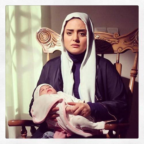 نرگس محمدی و سام درخشانی در پشت صحنه فیلم جدیدشان
