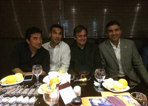 ستاره های فوتبال در ضیافت شام عابدزاده