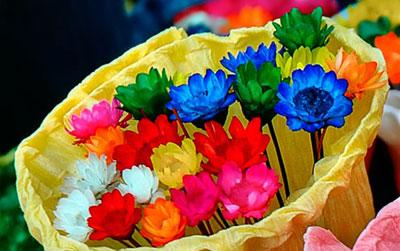 آموزش رنگ کردن گل طبیعی تصاویر