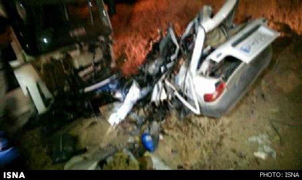 تصادف دلخراش و مرگبار پراید با کامیون
