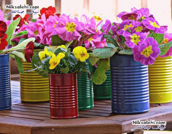 تبدیل وسایل قدیمی به گلدان های بسیار زیبای بهاری