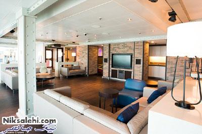نمایی از داخل کشتی زیبایی که کیت میدلتون نامگذاری کرد
