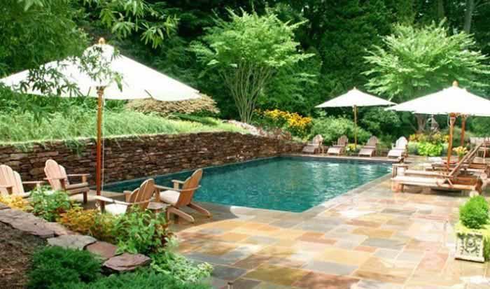 اصول طراحی استخر خانگی لوکس و مدرن در حیاط خانه تصاویر