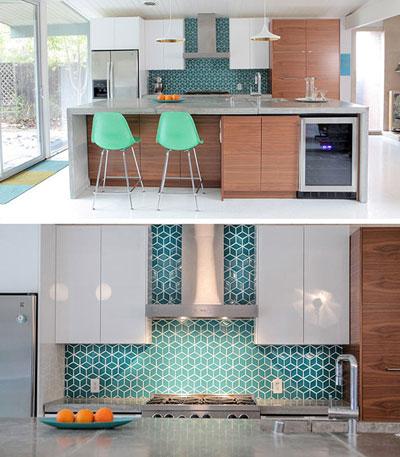 مدرن و شیک آشپزخانه با این کاشی های بسیار زیبا و جدید