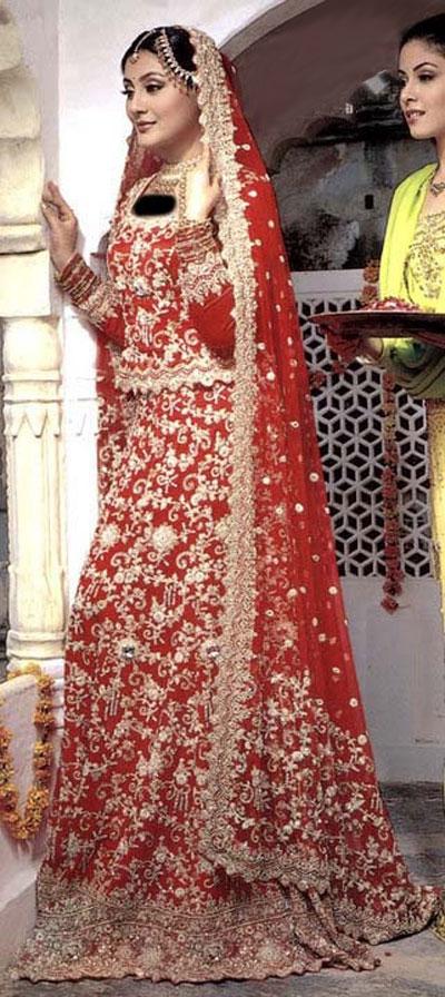 انواع مدلهای لباس عروس هندی