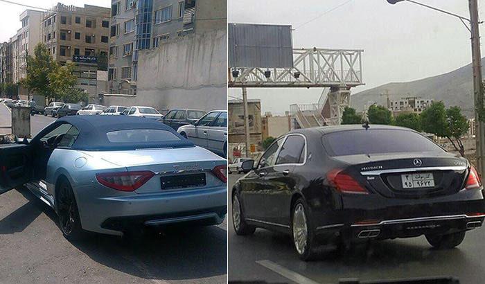 خودنمایی خودروهای لاکچری در خیابان های تهران تصاویر