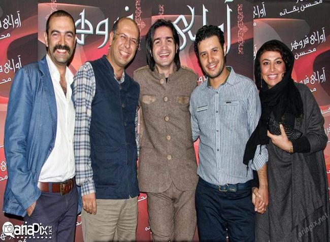 جواد عزتی و همسرش مه لقا باقری در کنسرت محسن یگانه