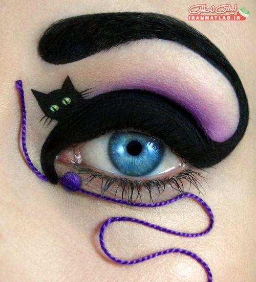 عجیب ترین مدلهای سایه ها و آرایش چشم تصاویر