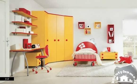 دکوراسیون داخلی اتاق کودک با رنگ های شاد و جذاب  تصاویر