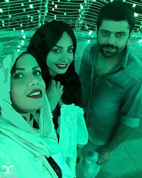 عکس های جدید شاهد احمدلو بازیگر سریال گشت ویژه با همسرش