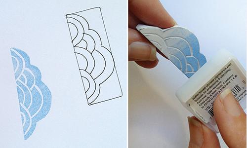 آموزش ساخت مهر با پاکن بسیار ساده و جالب تصاویر