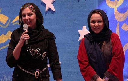 نیوشا ضیغمی و بهنوش بختیاری در برنامه نوروزی شبکه تهران عکس