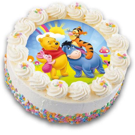 نمونه هایی زیبا از نقاشی روی کیک تولد