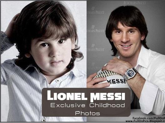 کودکی لیونل مسی