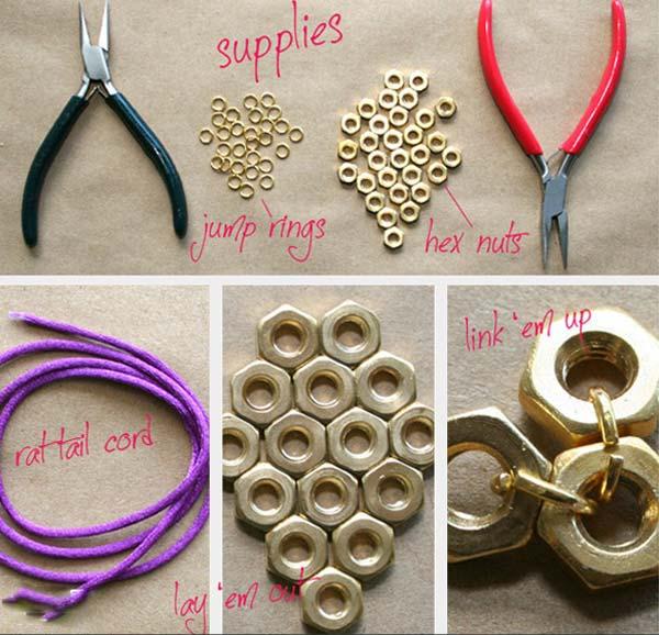 آموزش ساخت دستبند دخترانه بسیار شیک با وسایل دورریختنی