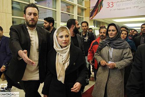 نیوشا ضیغمی در اکران فیلم دریا و ماهی پرنده در جشنواره فجر