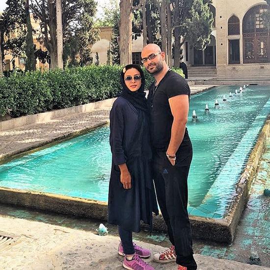 عکس های جدید و جالب حدیثه تهرانی با همسرش