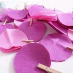 آموزش ساخت آویز گل کاغذی بسیار زیبا