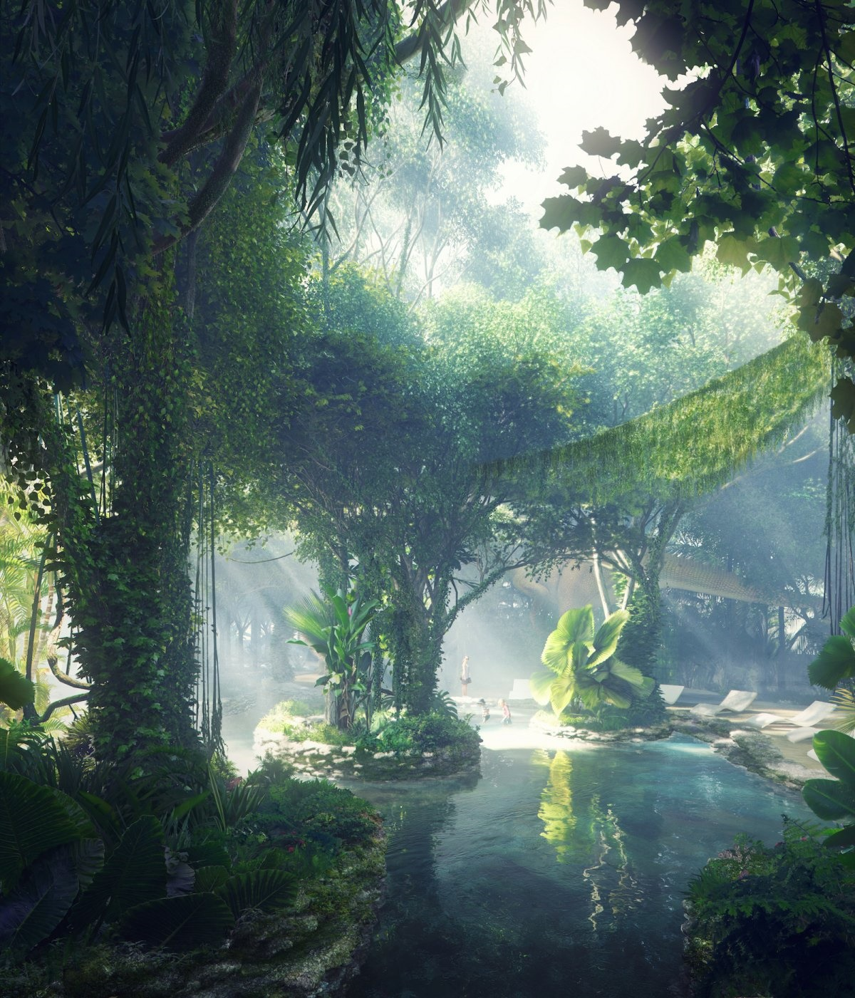 اولین هتلی که در آن جنگل استوایی وجود دارد! تصاویر