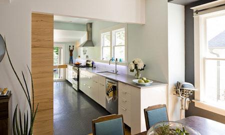 متریال های زیبا و بادوام برای کف پوش آشپزخانه  تصاویر