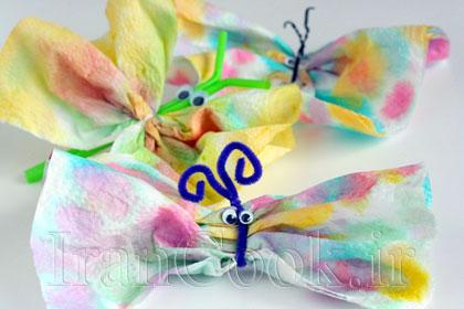 آموزش ساخت پروانه کاغذی  تصاویر