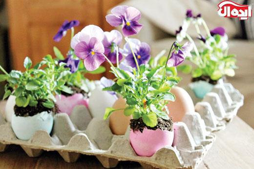 گلدان های عجیب برای گل های بهاری