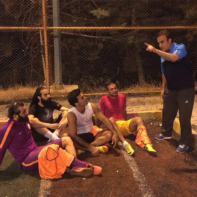تمرینات امیرتتلو کنار فوتبالیستها