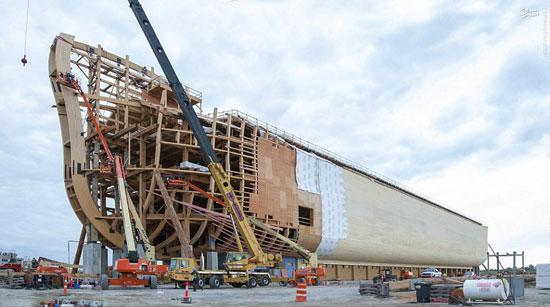 ساخت کشتی نوح در کشور آمریکا! تصاویر