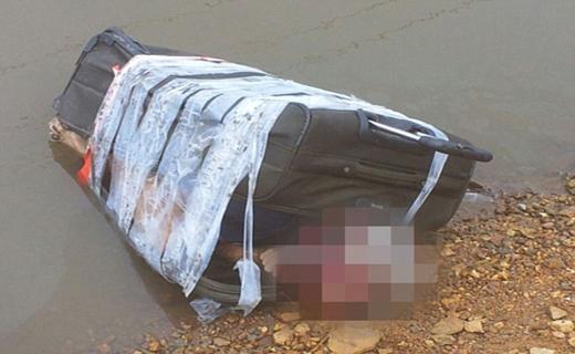 یک جسد مثله شدن در چمدان