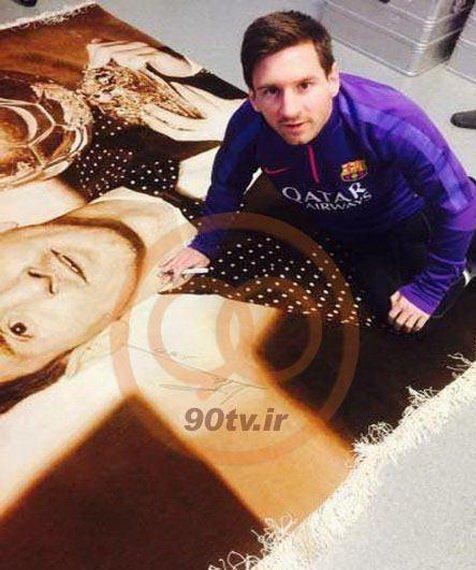 لیونل مسی با دیدن فرش ایرانی هیجان زده شد