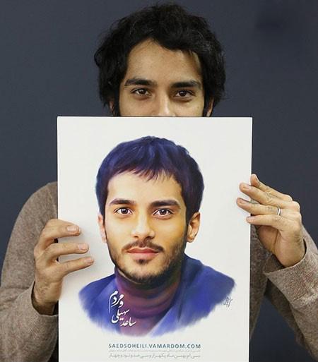 ساعد سهیلی بازیگر جوان و سلفی های جدیدش تصاویر
