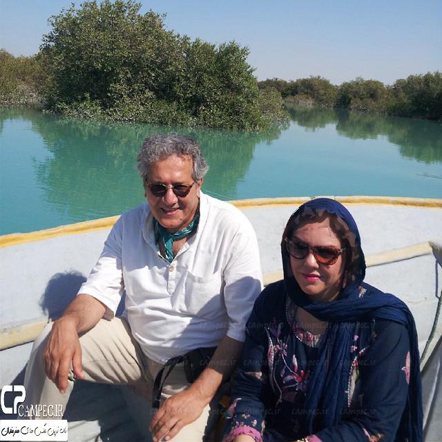 زوج بازیگر ایرانی در حرم امام رضا(ع) در سال 73 تصاویر