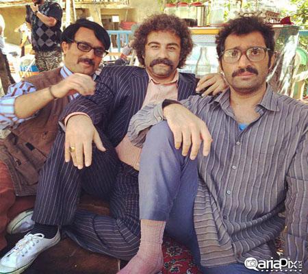 تست گریم جالب هادی کاظمی,محسن تنابنده و احمد مهرانفر عکس