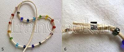 ساخت کاردستی دستبند مهره ای  تصاویر