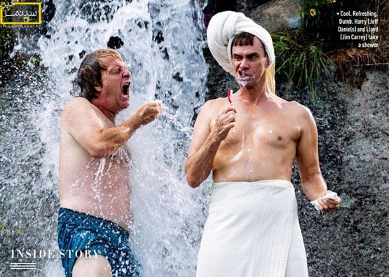 عکسی خنده دار از «جیم کری» در فیلم«احمق و احمق تر»