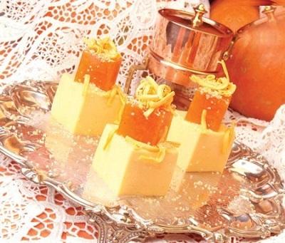 با هویج و پرتقال کرم ژله ای درست کنید! عکس